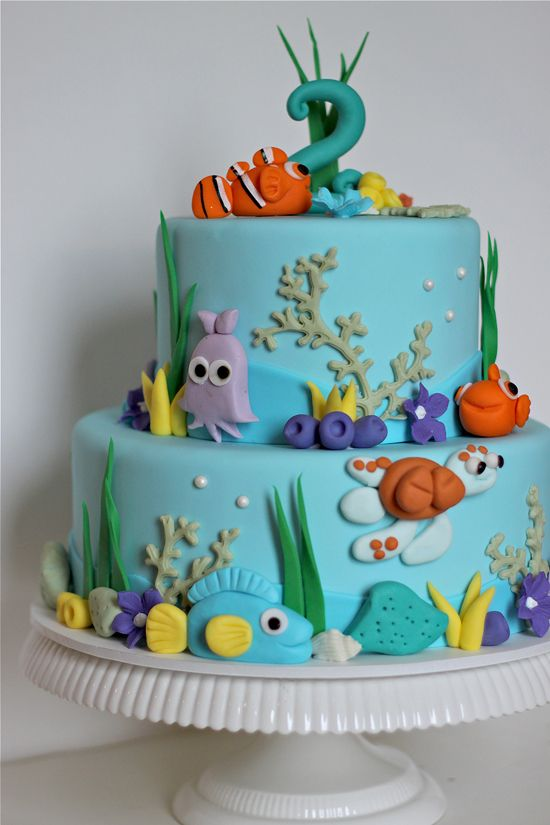 Awesome Nemo Birthday Cake From Couturecakery Net Nemo Cake Cake Cool Personalised Birthday Cards Cominlily Jamesorg