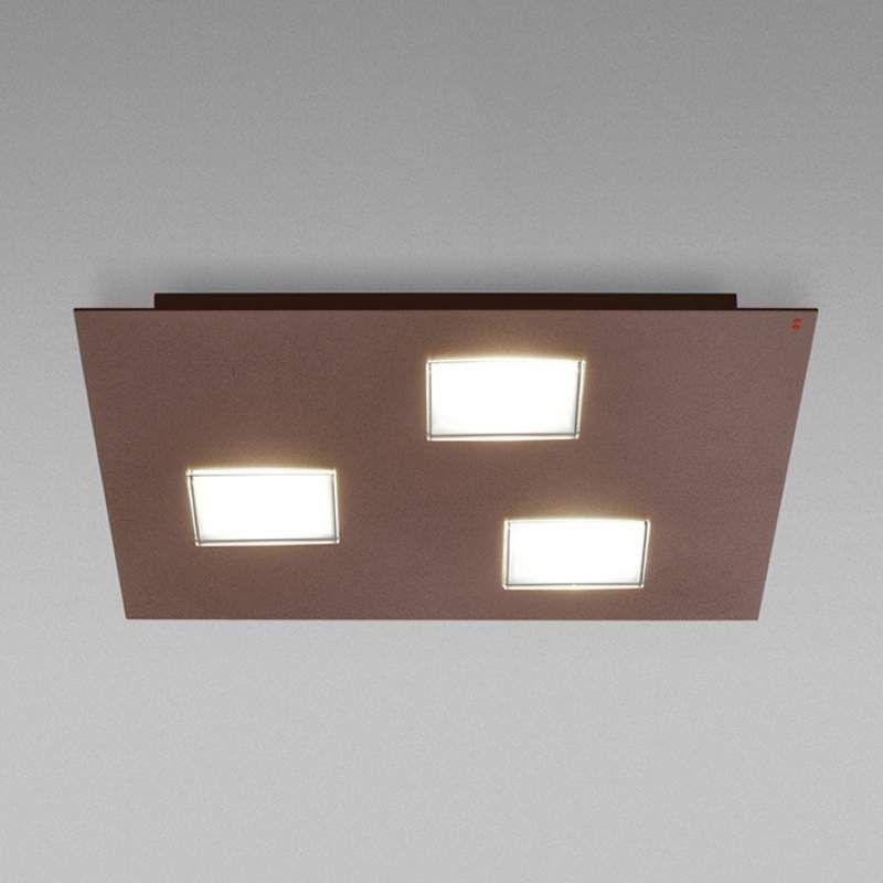 Bruine Plafondlamp Quarter Met 3 Led S Plafondlamp Plafondverlichting Led
