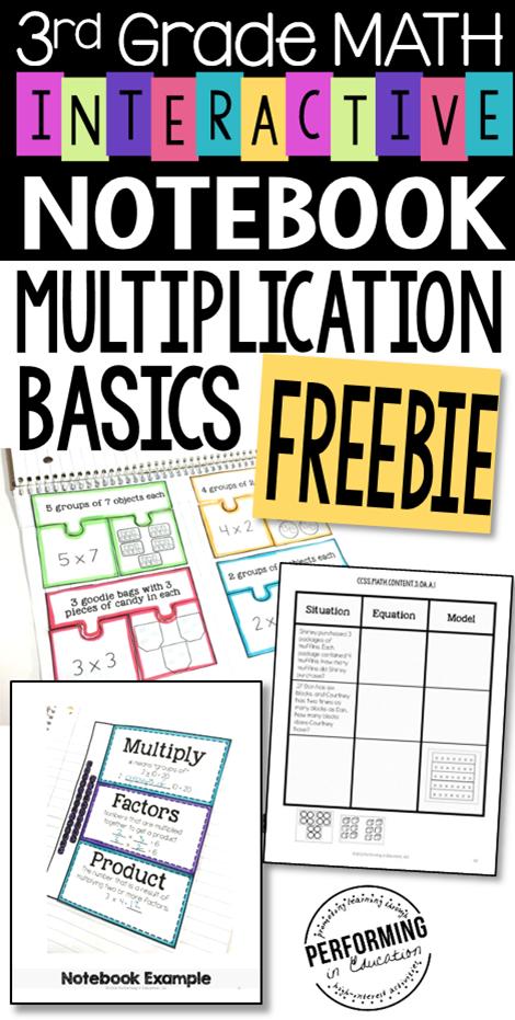 Multiplication Interactive Math Notebook 3rd Grade OA FREE   Grades ...