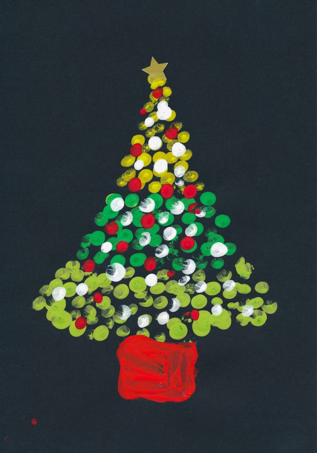 christmas craft ideas ks1 print tree elementary cards 3581