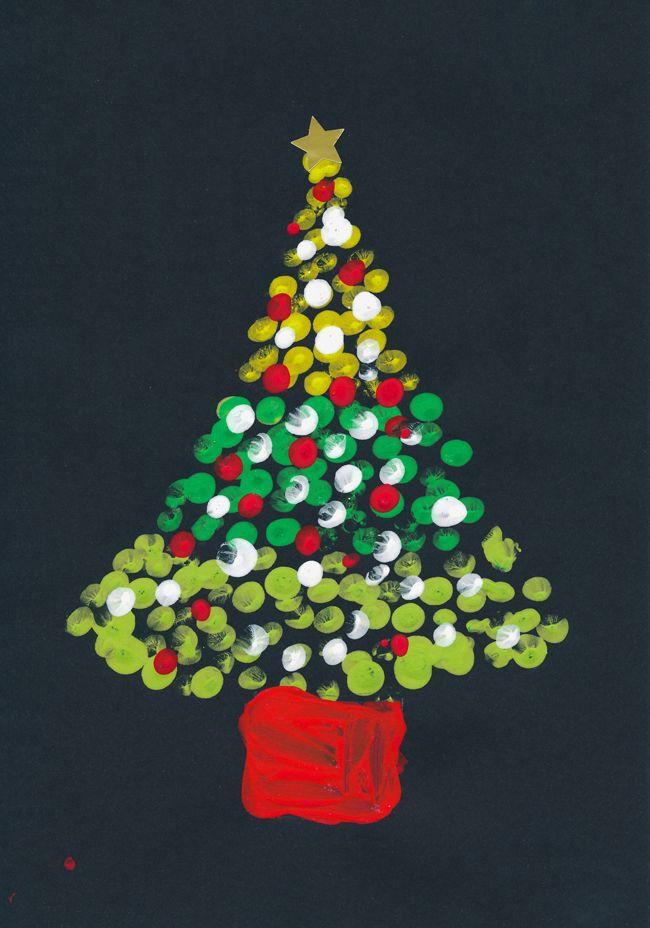 Print Tree Print Christmas Card Christmas Card Crafts Christmas Artwork