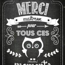 Printable Carte Merci Maitresse Idee Cadeau Maitresse Cadeaux