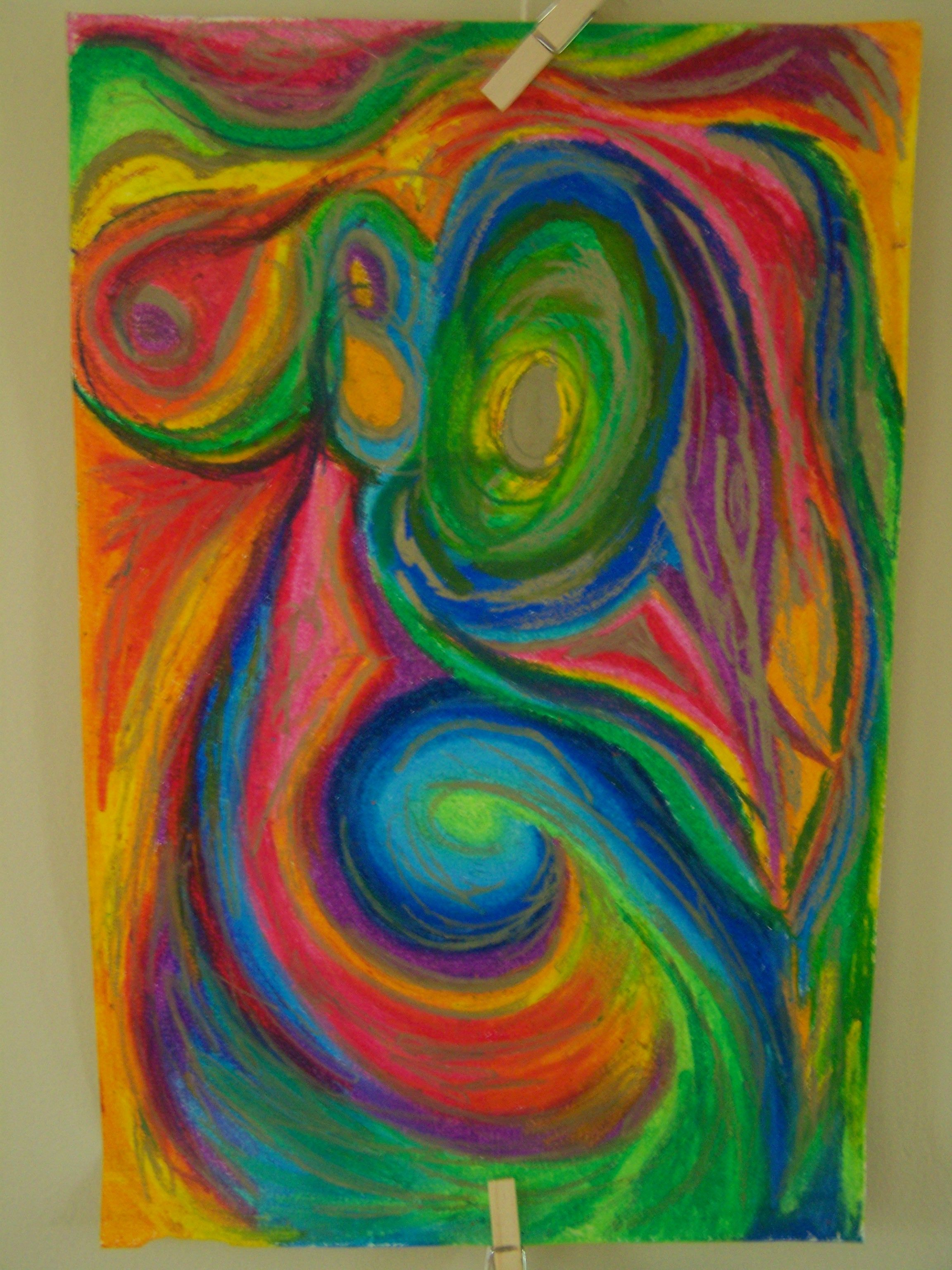 Pinturas Color Pastel I Love My Oil Pastels Abstract Art
