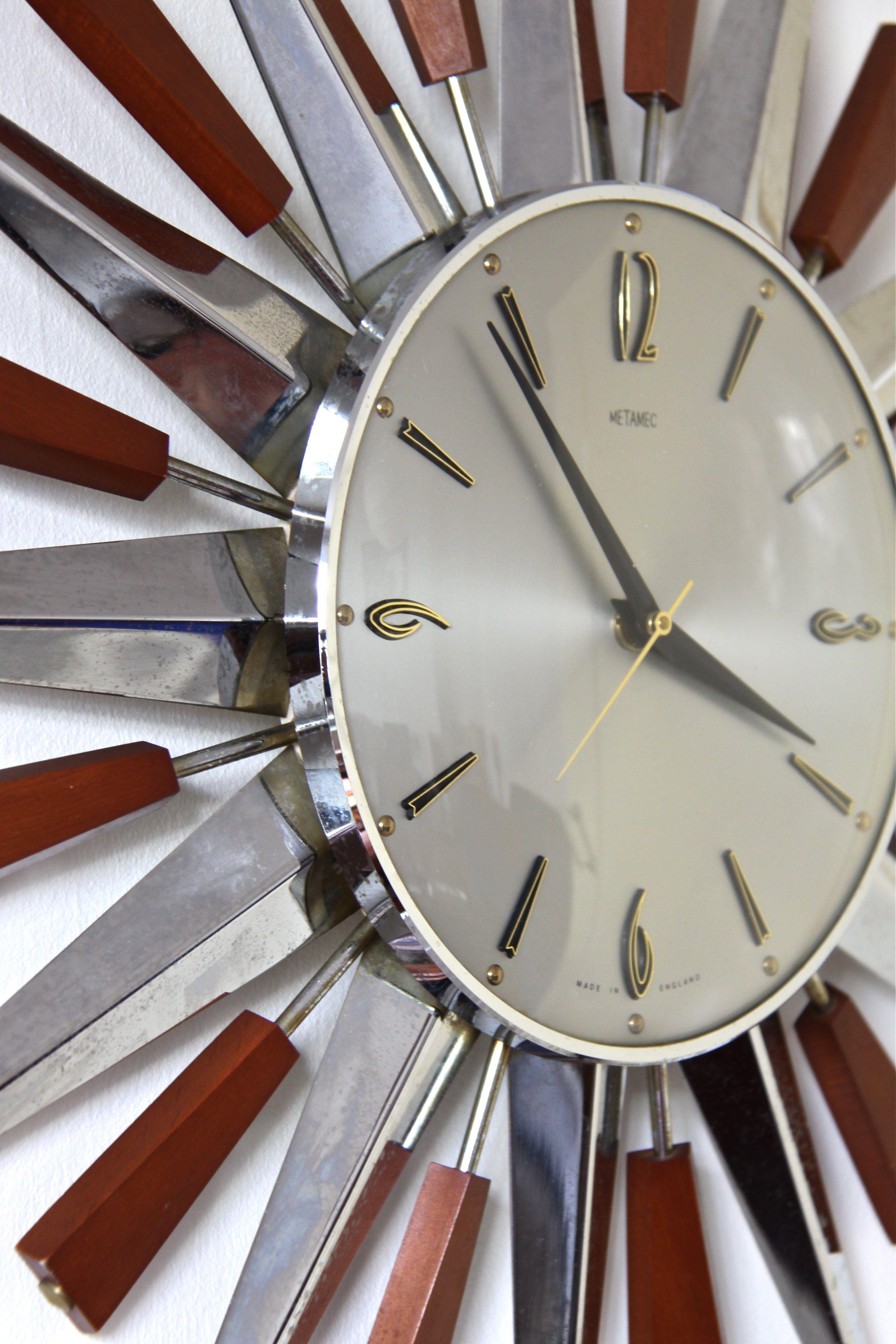 1960s sunburst clock metamec starburst wall clock circa 1960u0027s