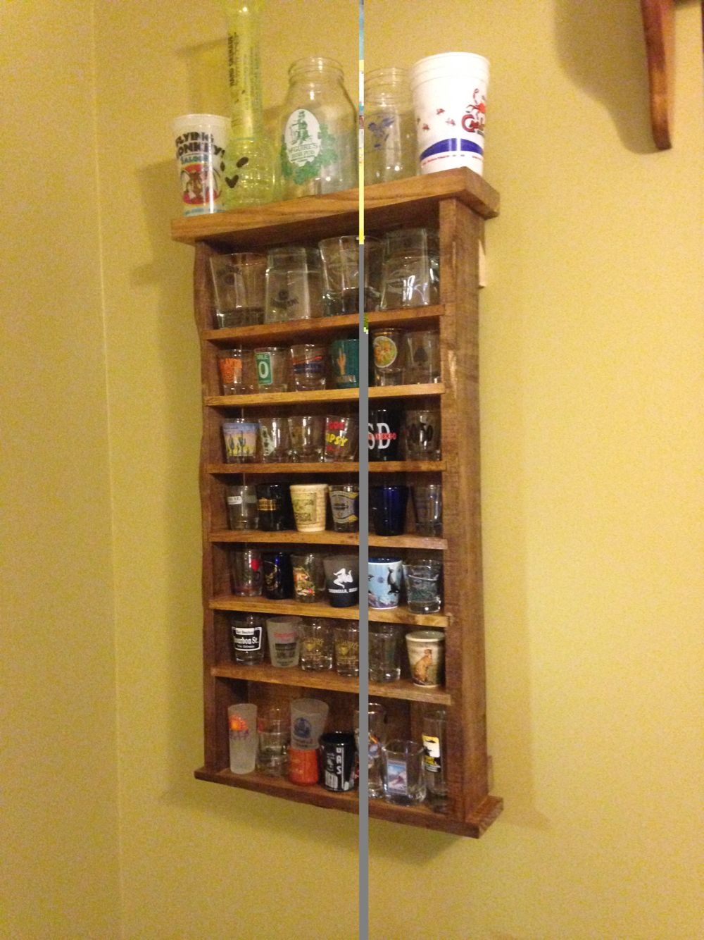 Pallet shot glass holder. | My projects | Pinterest | Glass holders ...