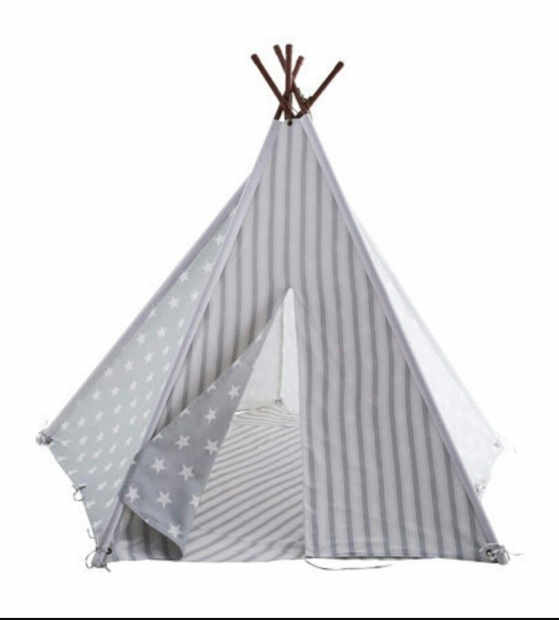 New GLTC Grey Star Wigwam Play Tent Indoor Outdoor Play  sc 1 st  Pinterest & New GLTC Grey Star Wigwam Play Tent Indoor Outdoor Play | Outdoor ...