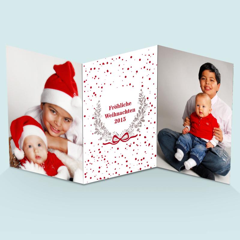 Weihnachtskarten: Lachen
