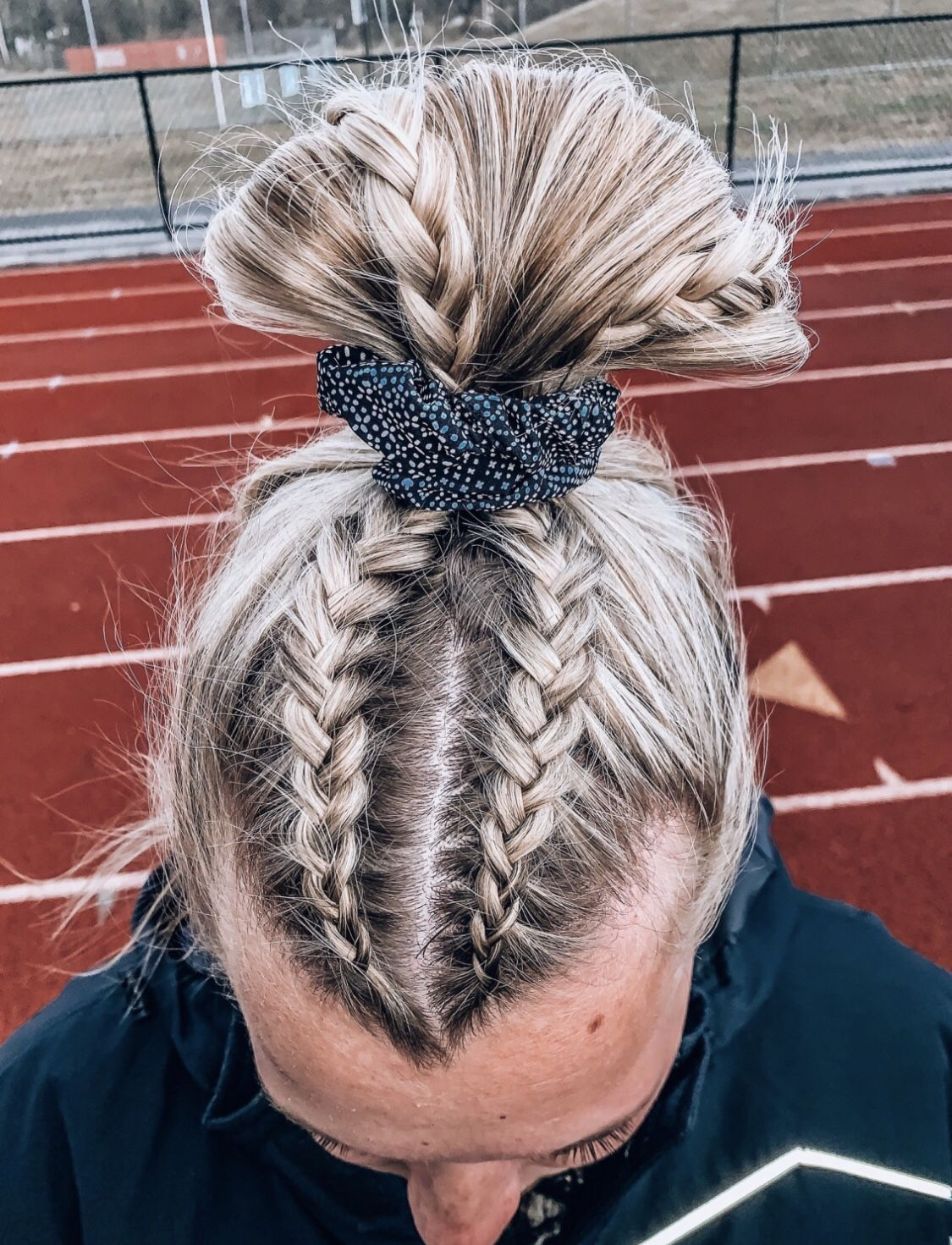 Perfect Braid For A Volleyball Game Sports Hairstyles Sporty Hairstyles Volleyball Hairstyles