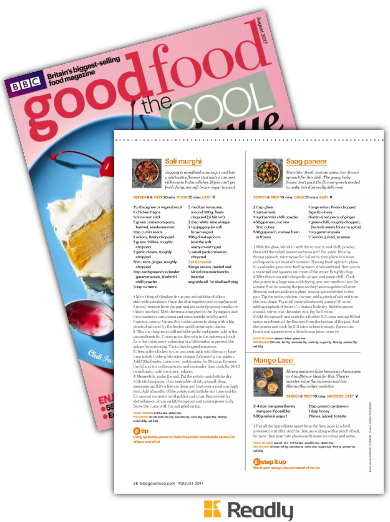 Suggestion about BBC Good Food Aug 2017 page 38
