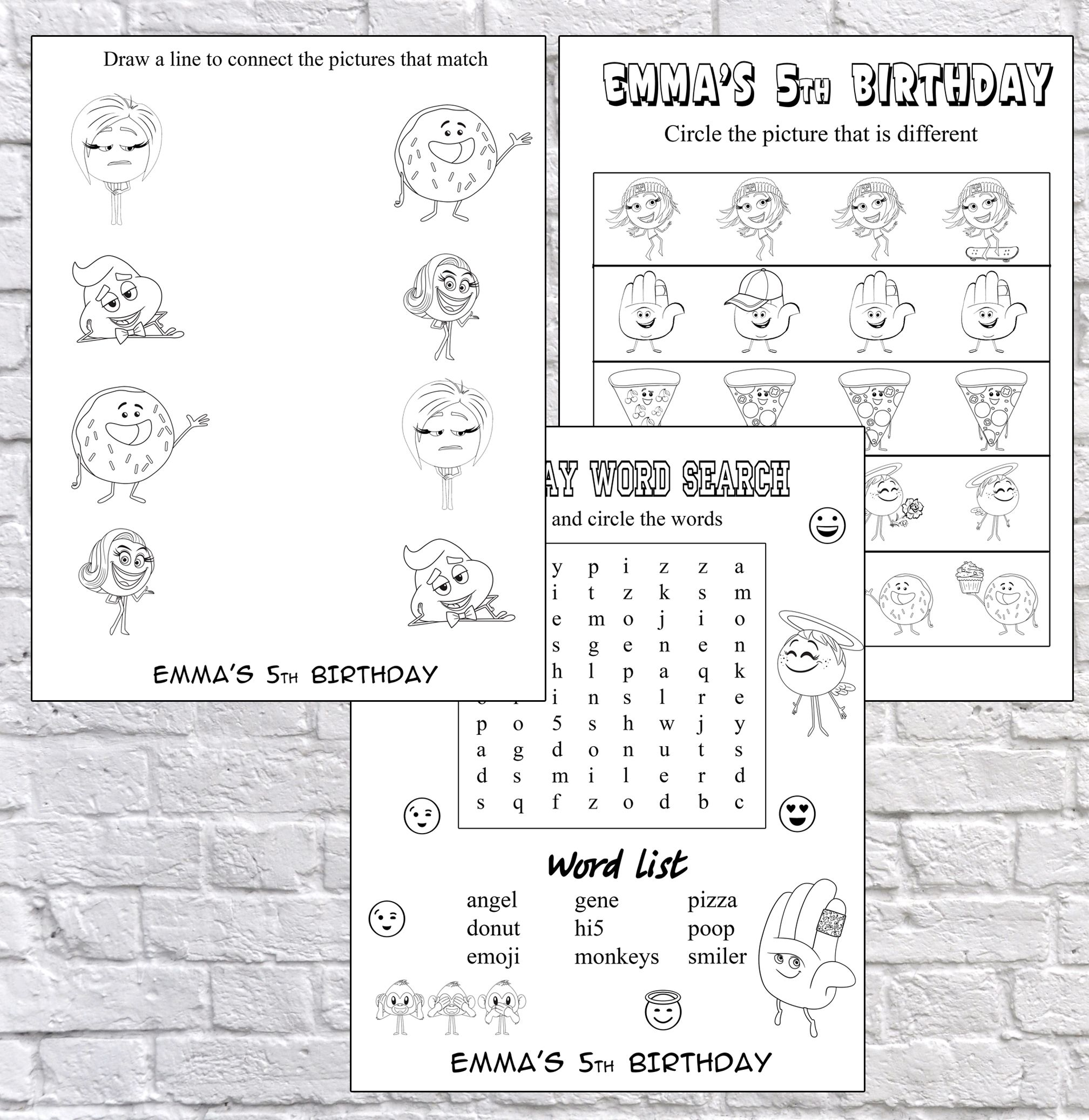 Party Games Coloring Coloring Page Activity Pages