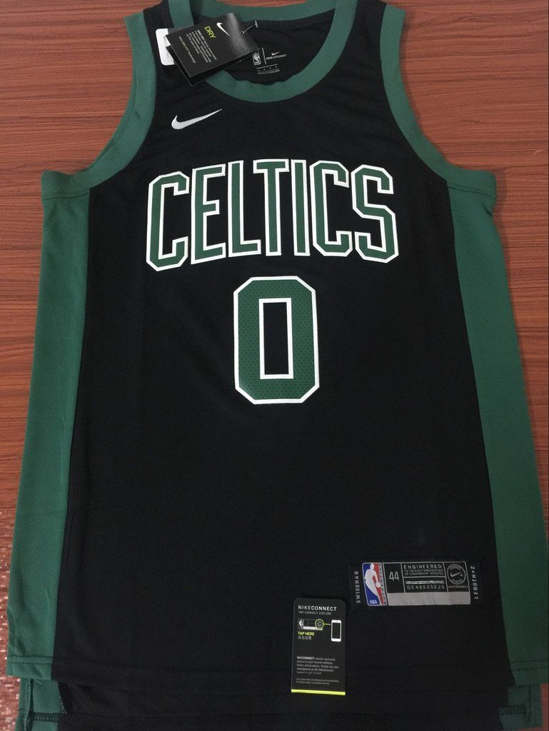 watch 609e7 14d3d Men 0 Jayson Tatum Jersey Black Boston Celtics Jersey ...