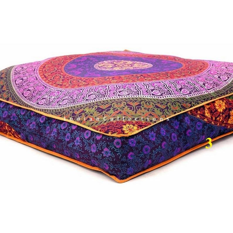 Floor Cushions Outdoor Furniture Mandala Pouf Square