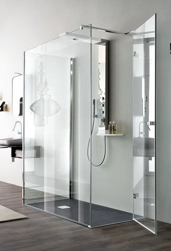 Arblu otto parete quadrato rettangolare 1 anta battente laterale parete doccia senza telaio - Box doccia senza telaio ...