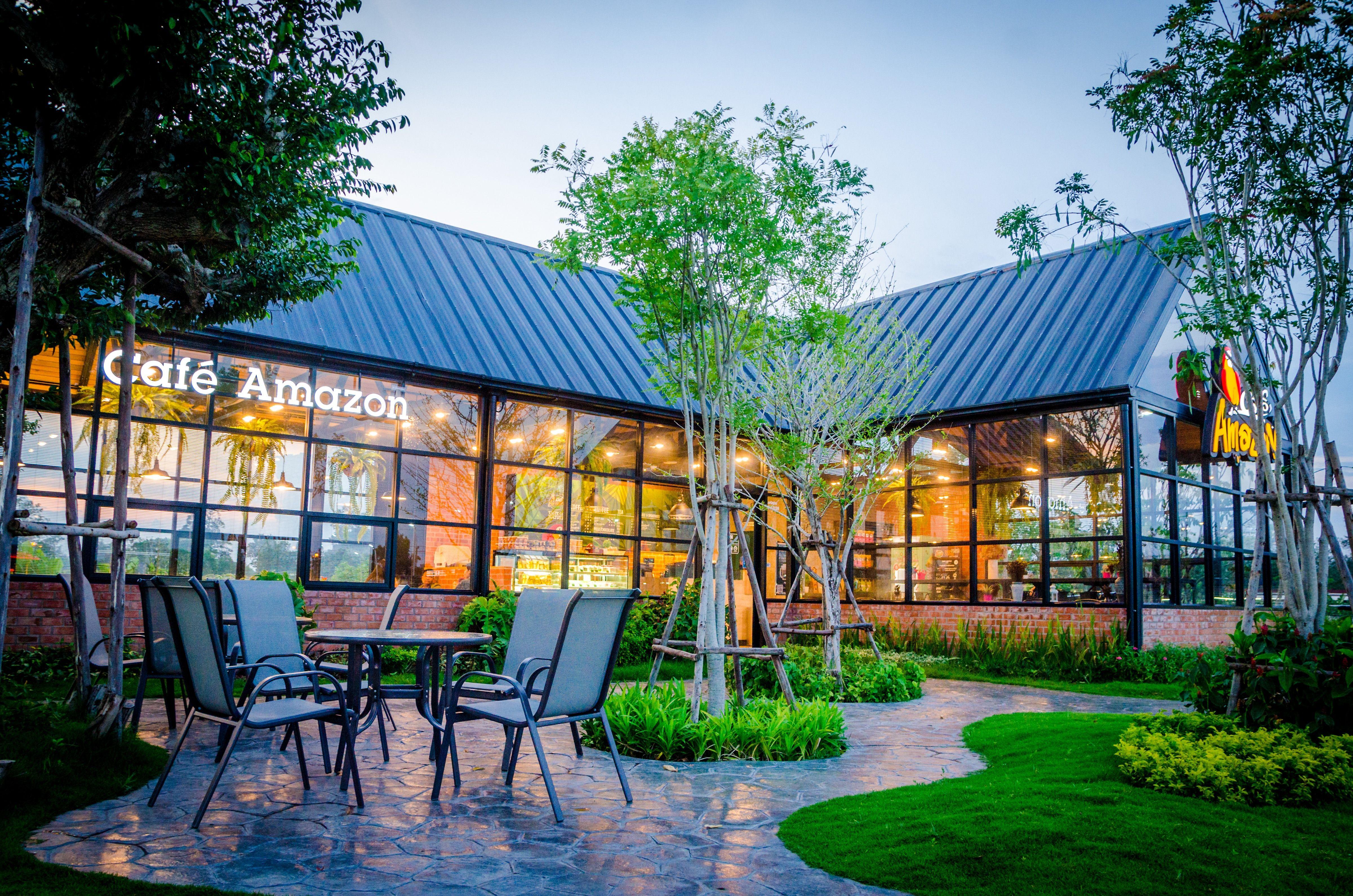 Cafe Amazon Greenscape Outdoor Decor Architecture Design Outdoor