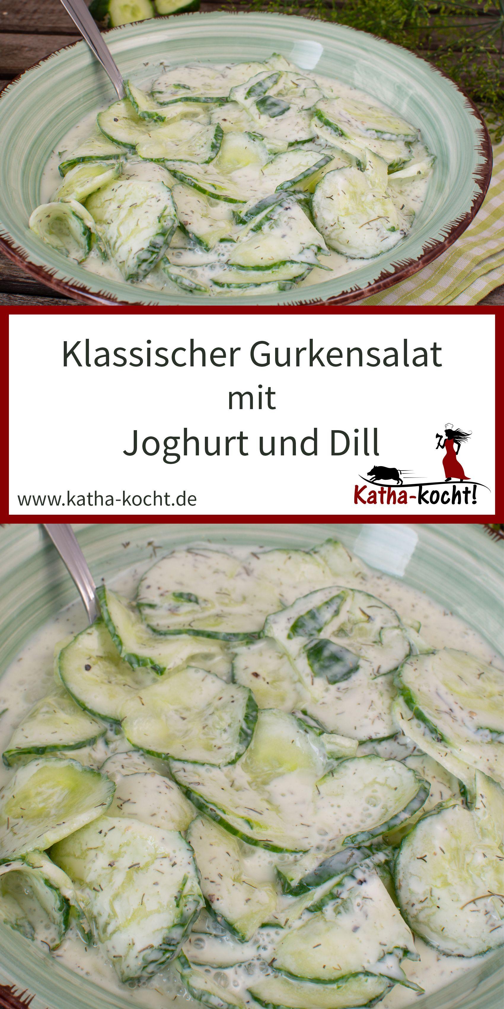klassischer gurkensalat mit joghurt katha kocht