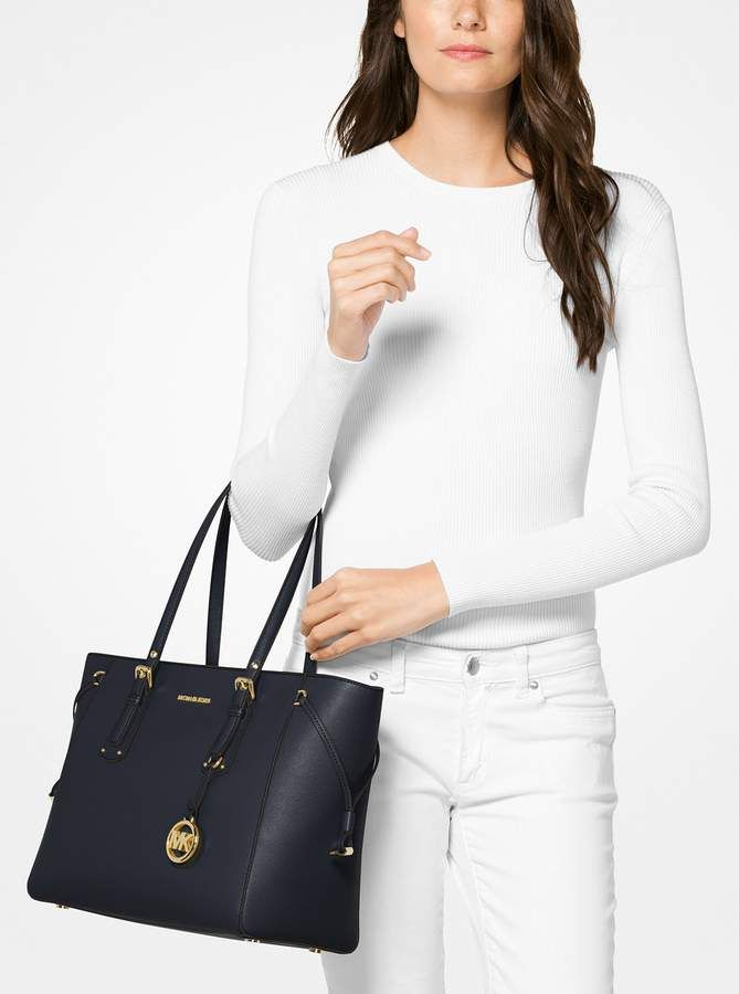 MICHAEL Michael Kors Voyager Medium Leather Tote  6a7f254dec803