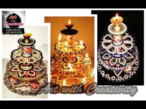 Innovative rangoli art on cd diwali decoration idea cd craft - Innovative Rangoli Art On Cd Diwali Decoration Idea Cd