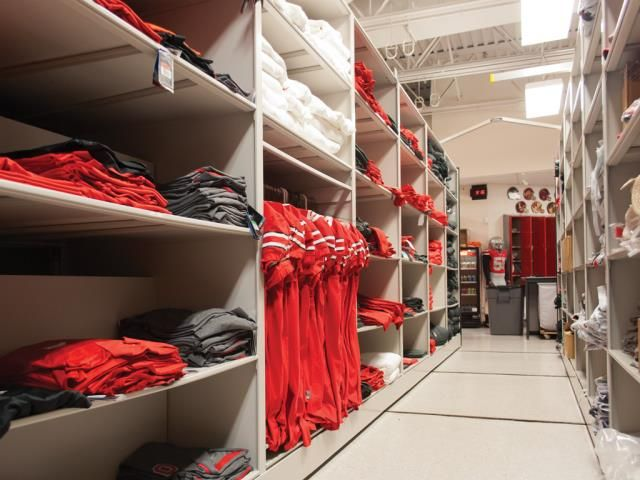 High Density Athletic Storage At Ohio State Patterson Pope Athletic Storage Ohio State Buckeyes Football