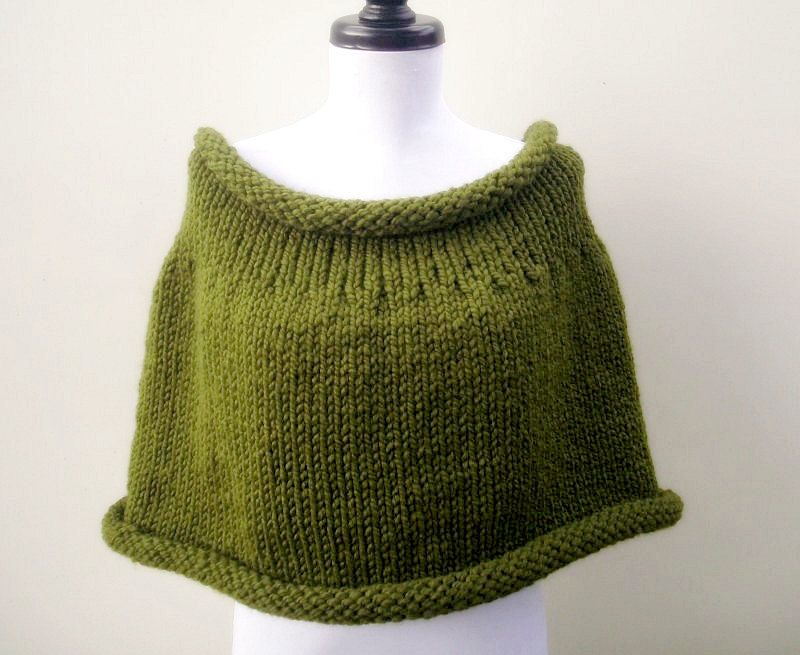 Digital Knitting Pattern Pdf Knit Capelet Pattern The Simone