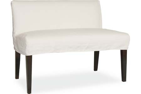 Lee Industries C7000 56 Slipcovered Dual Seat Dining Bench Dining Bench Seating Upholstered Chaise