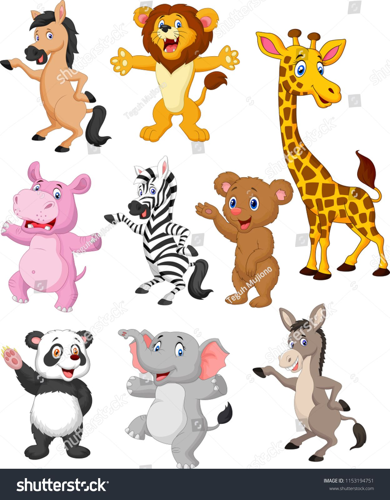 Wild Animals Cartoon Collection Setanimals Wild Cartoon Set Cartoon Animals Animals Wild Cartoon Drawings Of Animals