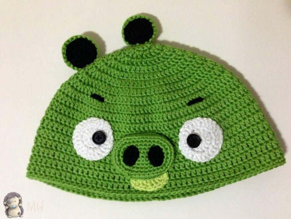 Gorro a Crochet Bad Piggy (de Angry Bird), Patrón Gratis ...
