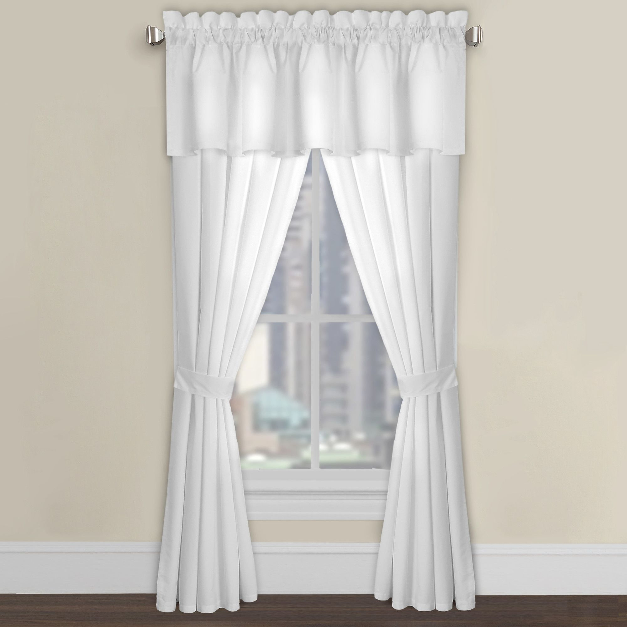 Microfiber Tailored Window Single Curtain Panel
