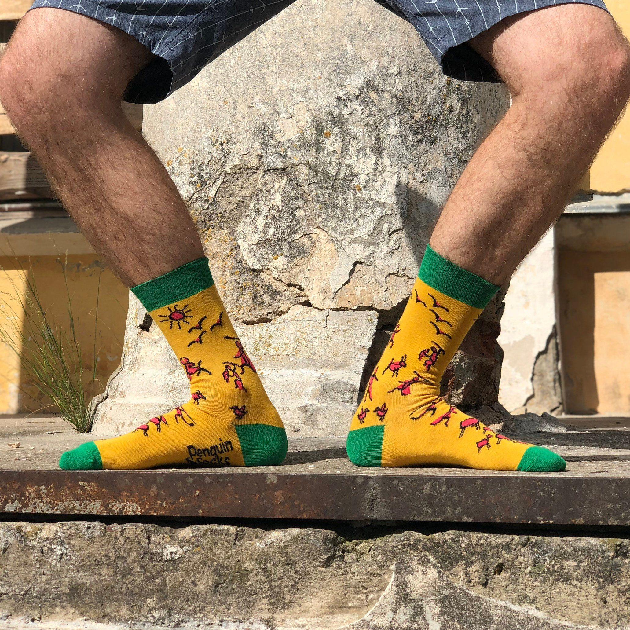 Stone Age Funny Socks For Men Science Sock Men Accessory Etsy Funny Socks For Men Funny Socks Novelty Socks