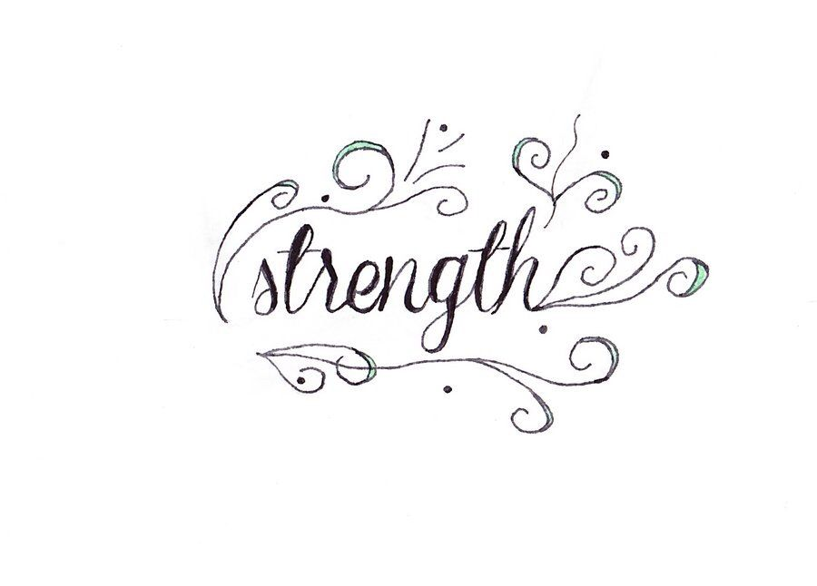 Strength Cursive Lettering Tattoo Design Strength Tattoo Strength Tattoo Designs Tattoo Designs