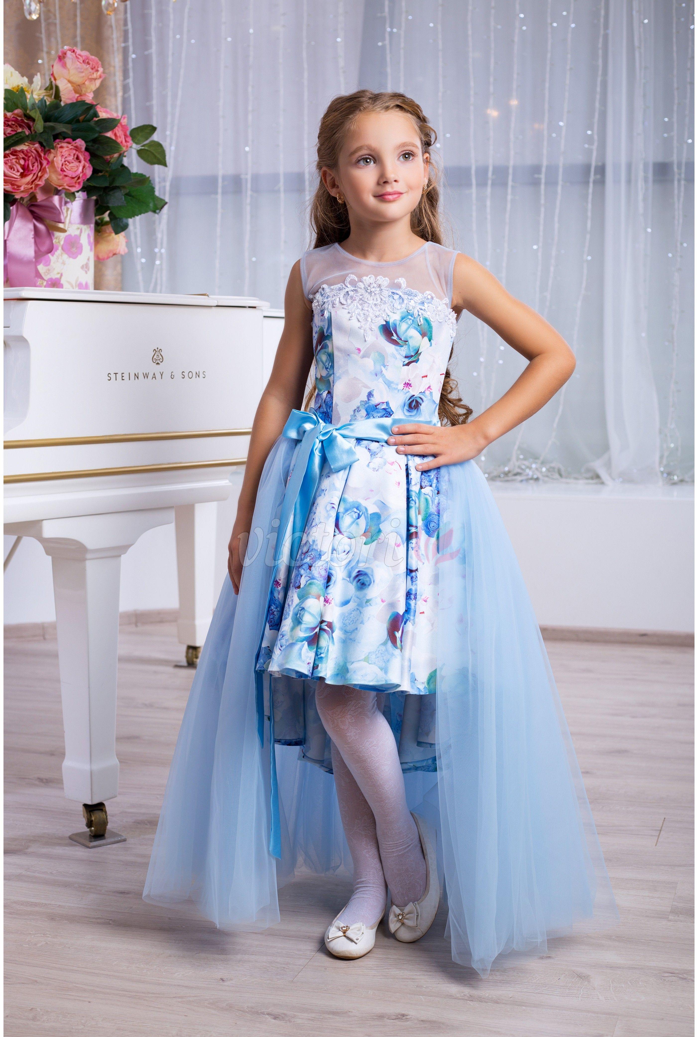 41158c898c1 Голубое детское платье на выпускной бал