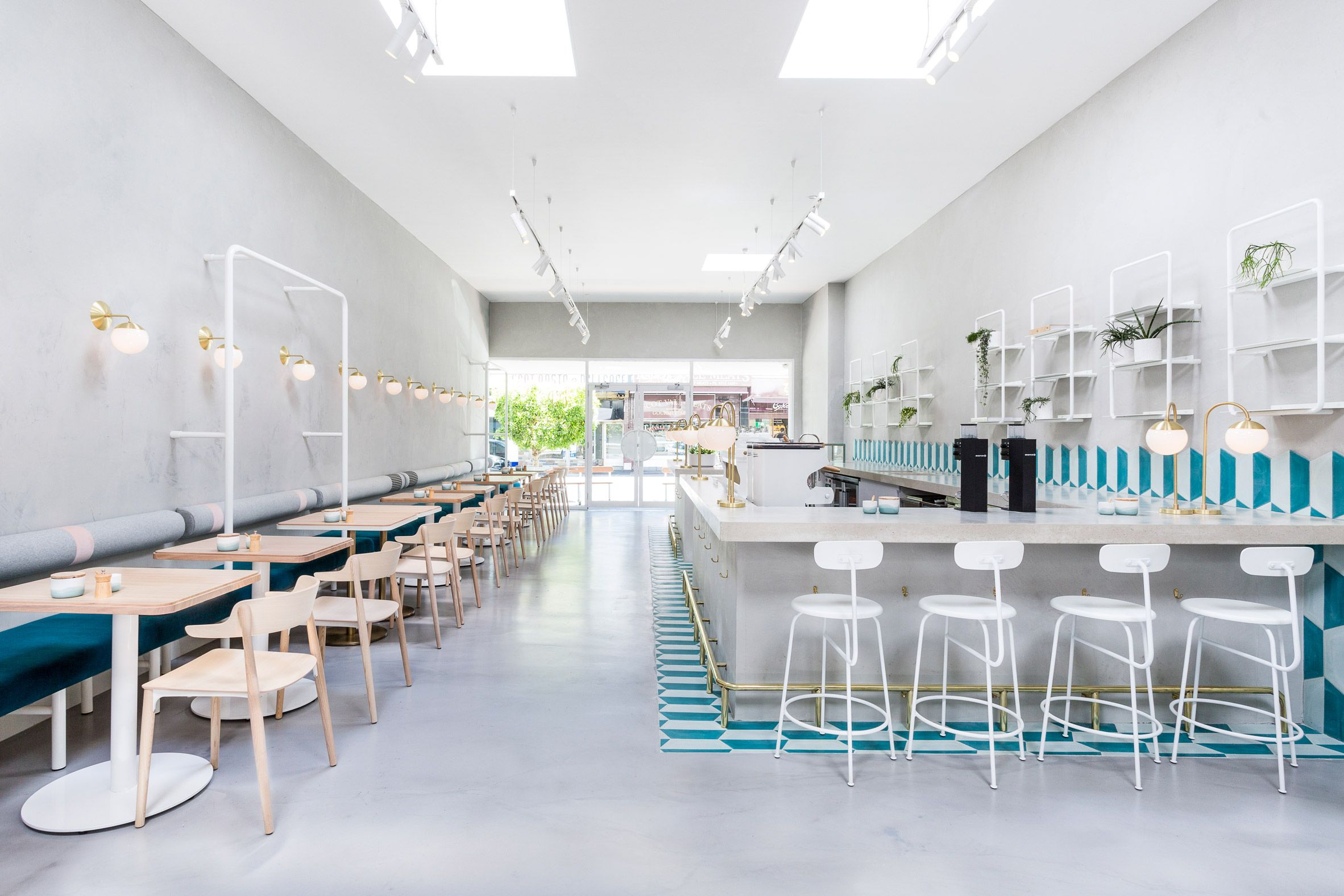 biasol creates melbourne cafe interior based on 1950s greek