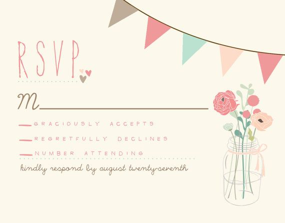 Rustic Wedding Invitation Suite DEPOSIT Vintage von SplashOfSilver