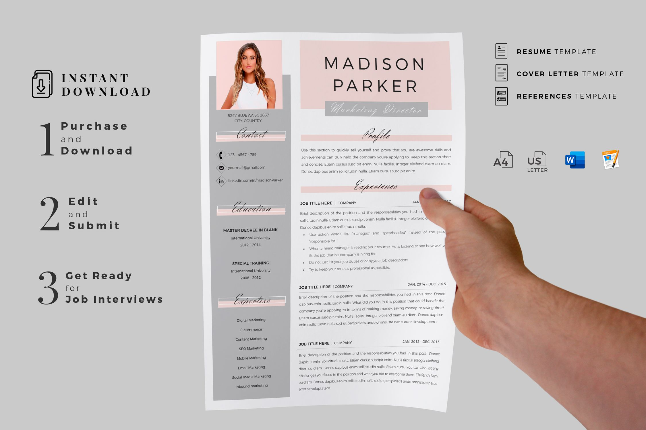 Creative Resume Format For Freshers Internship Resume Template For Ms Word And Mac Pages Simple Cv Creative Resume Templates Creative Resume Resume Templates