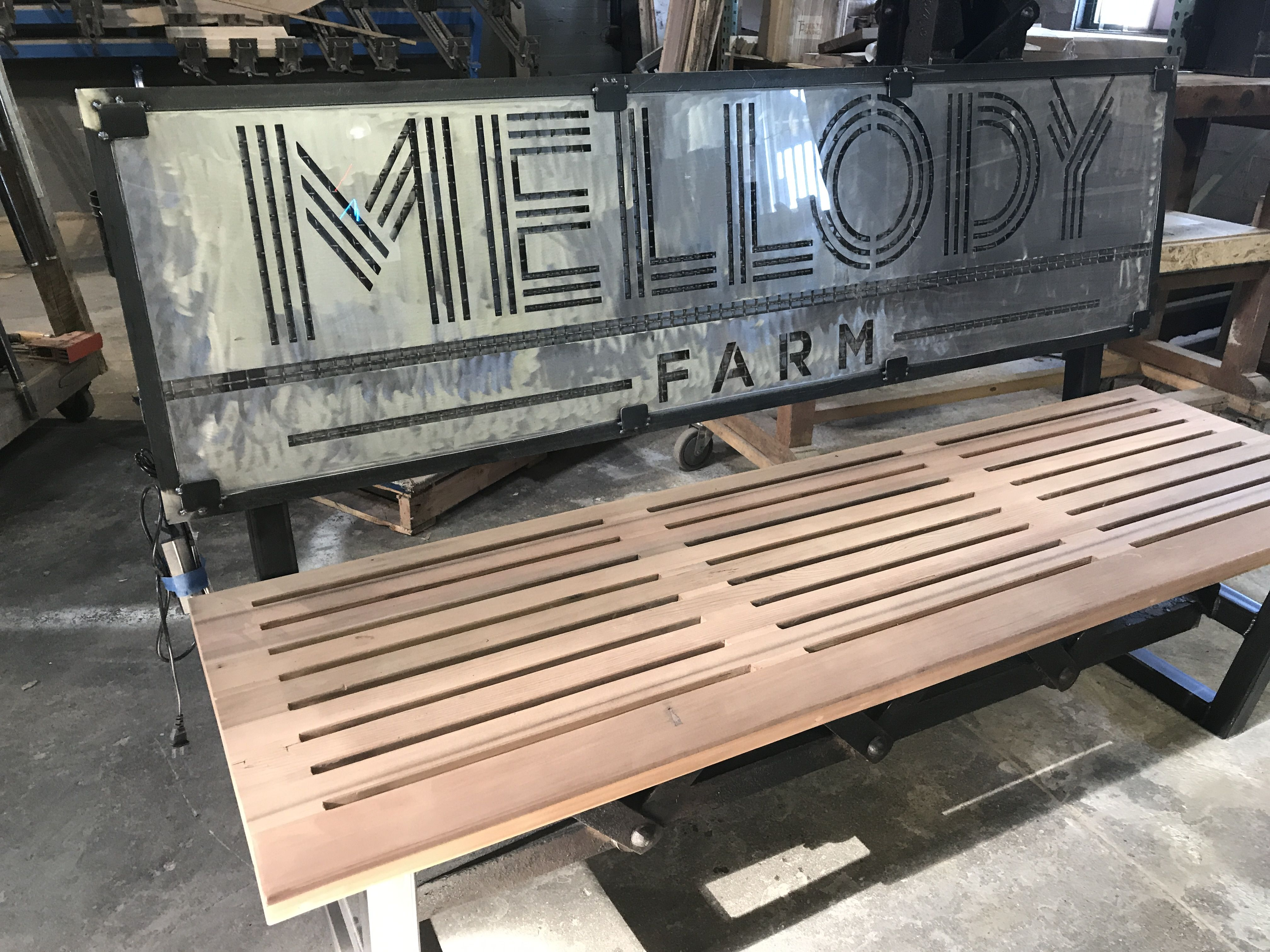 Custom Steel And Wood Bench Get Your Free Quote And Consultation Today Custom Wood Outdoor Bench Chicagofab In 2020 Custom Benches Custom Furniture Wood Bench