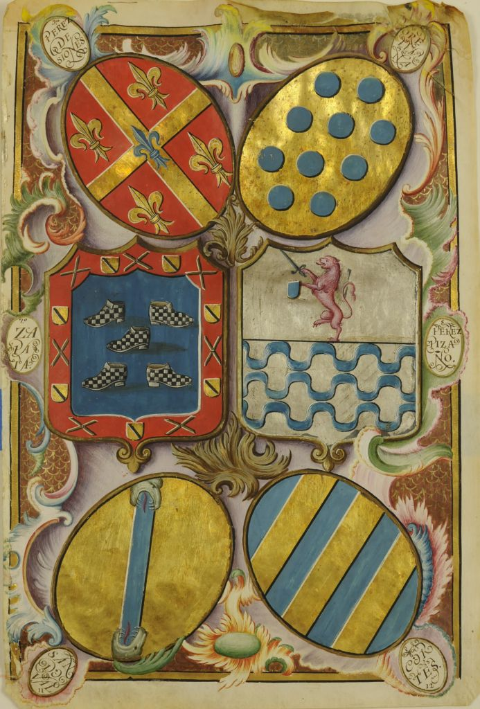 Perez de Sioane y Orellana. Unknown Artist - A Spanish Royal Grant of Arms
