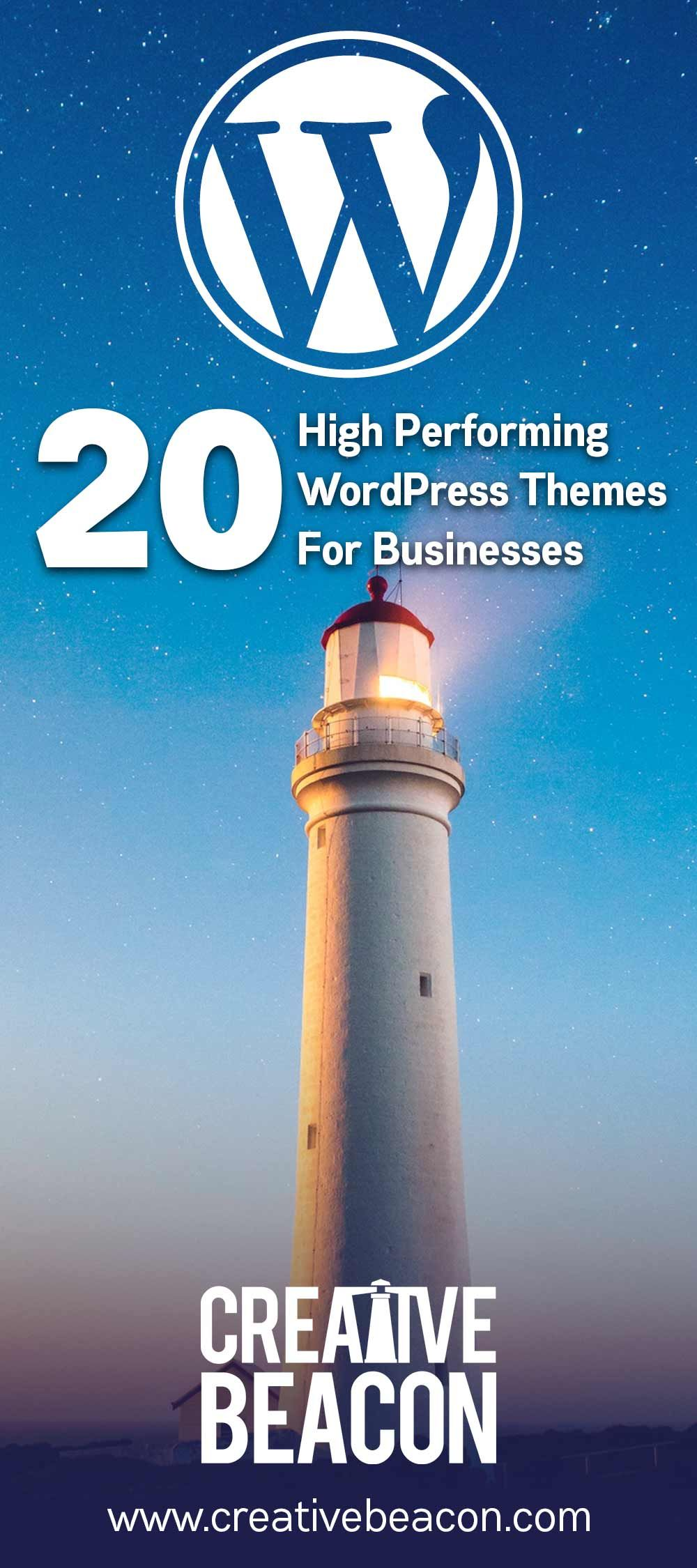 20 Top Performing #WordPress themes for Business