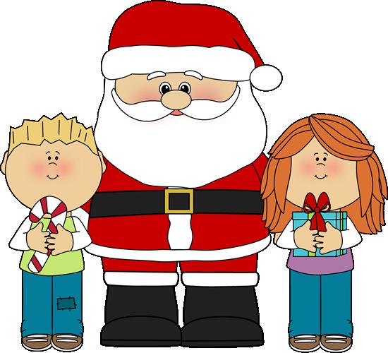 child's christmas clipart santa