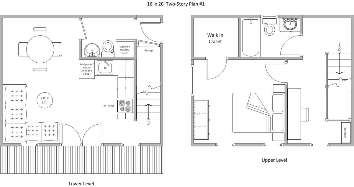 16 x 20 plan 1 itty bitty house plans decorating for 20 by 20 house plan
