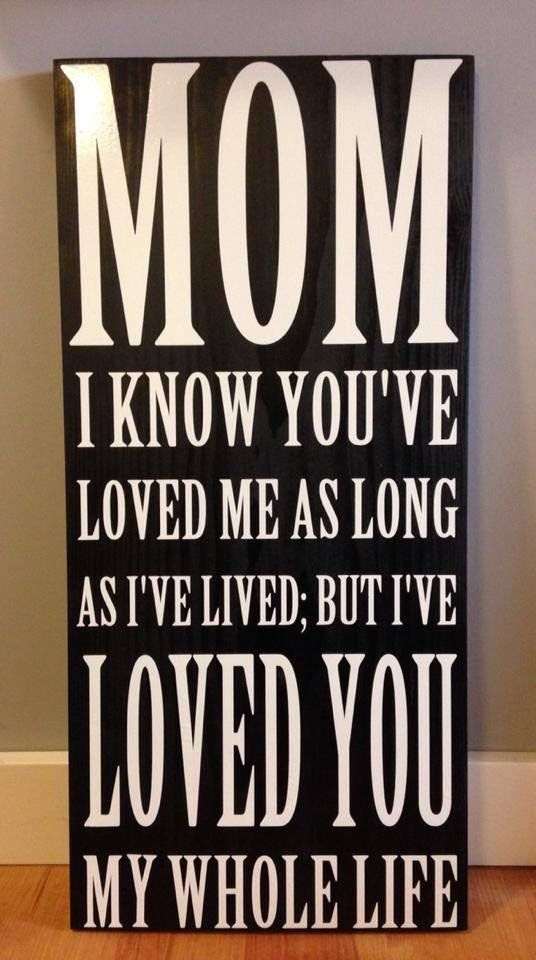 Mom (Dad) I Loved You My Whole Life