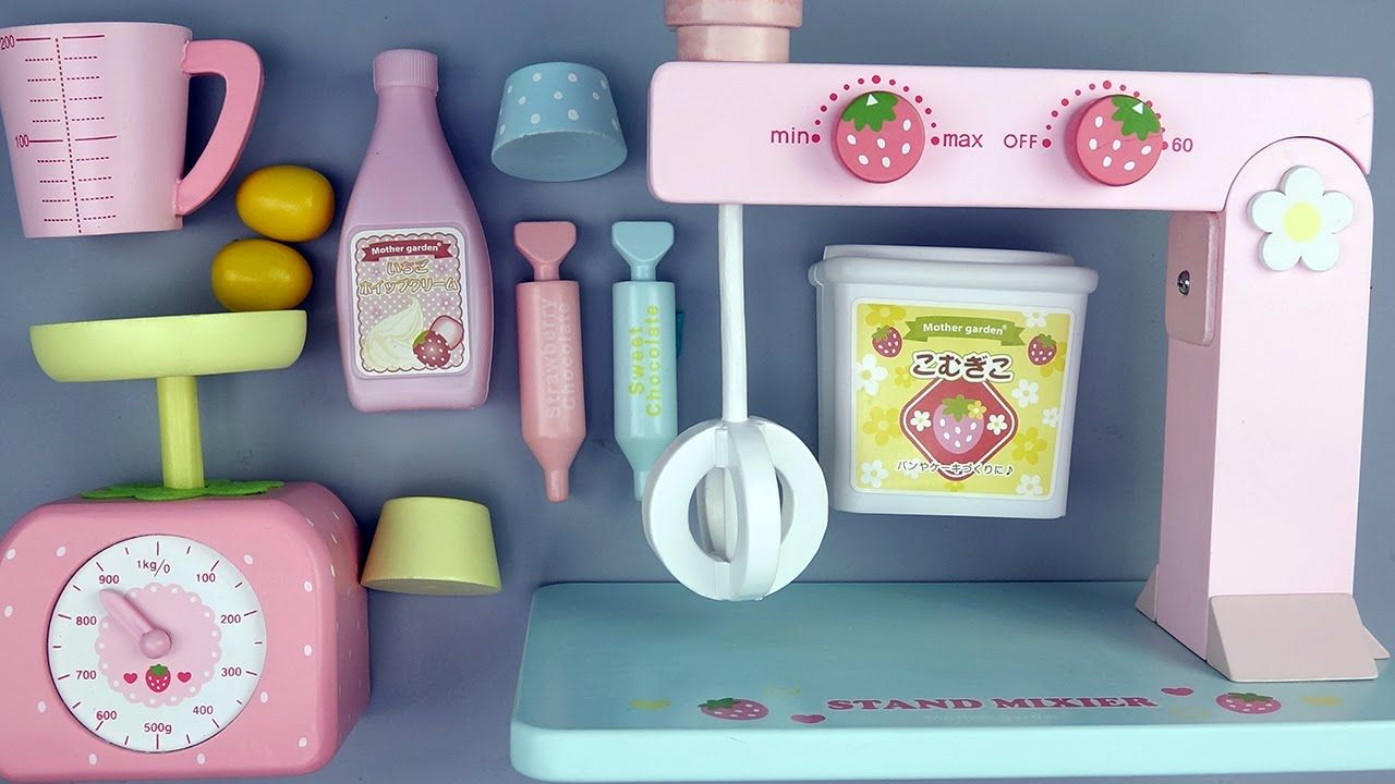 LEARN HOW TO BAKE a Birthday Cake w/ Wooden Toy Set – Pancakes ...