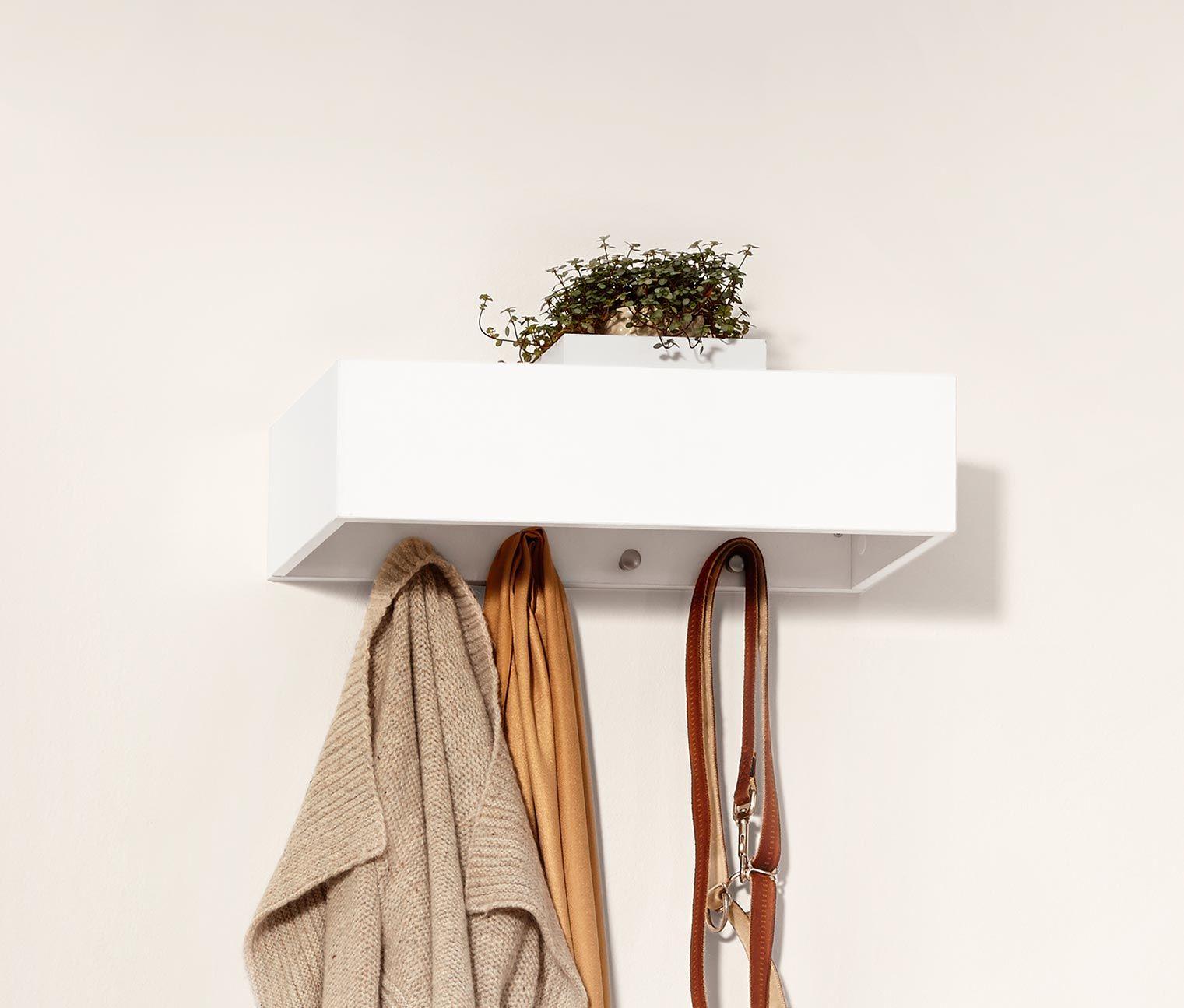 Wandgarderobe Mit Vier Haken Einem Verdeckten Magnethalter Fur