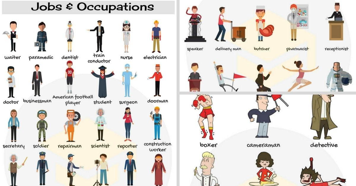 List Of Jobs And Occupations English vocabulary, Learn
