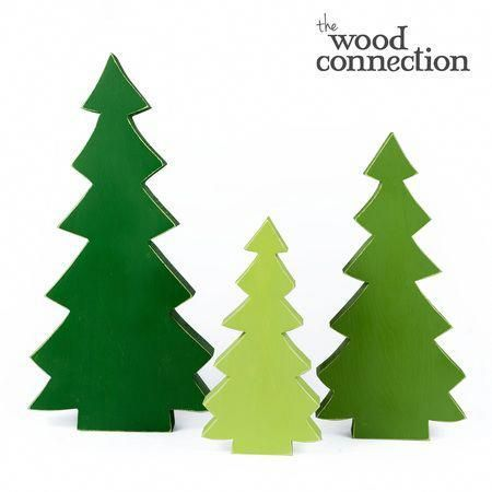 Tabletop Tree Trio Christmas deco acc Pinterest Wood crafts