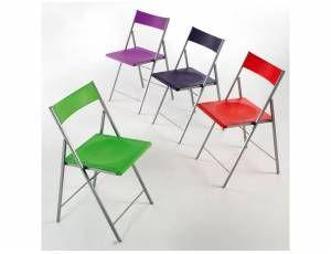 Sedie Acciaio E Plastica.Sedia Pieghevole First Sedie Pieghevoli Design Del Mobile