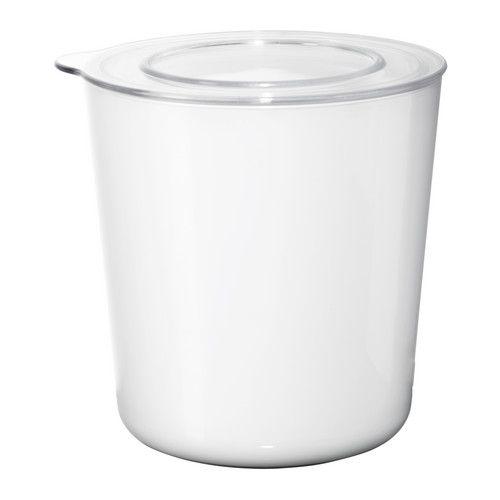 LJUST Kannellinen purkki - valkoinen/läpikuultava - IKEA