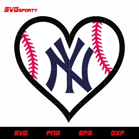 New York Yankees Heart Logo Svg Mlb Svg Eps Dxf Png Digital File New York Yankees Heart Logo Yankees