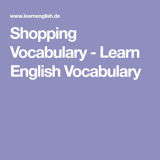 Shopping Vocabulary - Learn English Vocabulary