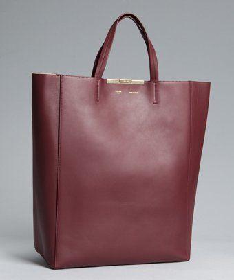 58d3847ea2 Celine Cabas shopping tote in burgunday. Bag of my dreams. Sleek ...