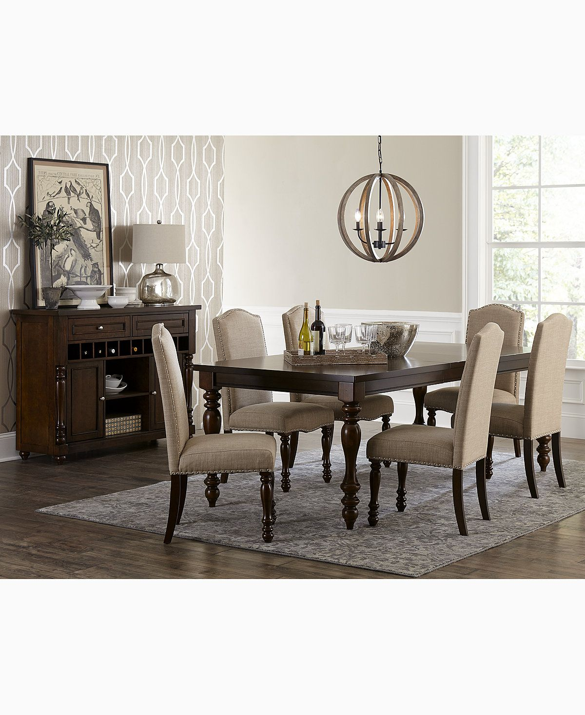 Kelso pc dining set dining table u side chairs dining sets
