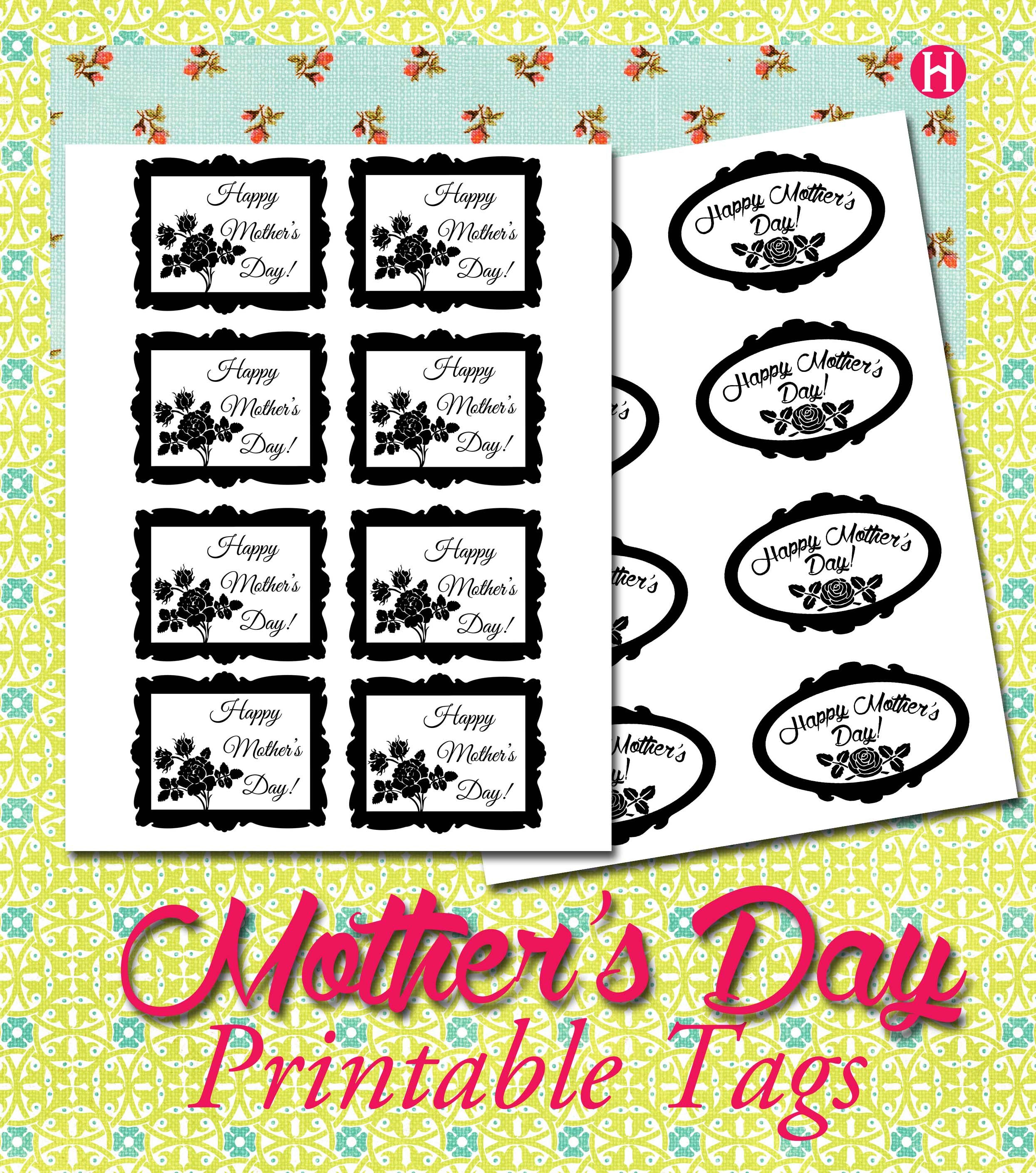 Mothers day coloring sheets for sunday school - Mother S Day Printable Tags For Your The Small Plant Or The Chocolate You Re Handing Out At Church On Mother S Day